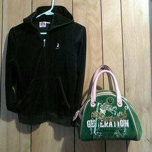 Juicy couture hooded jacket & purse